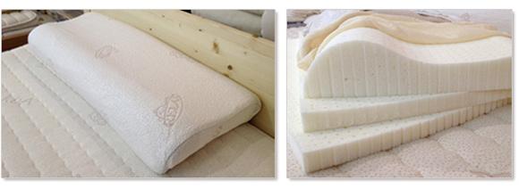 リラックス社の天然ラテックスの枕は世界最高品質のタラレイ製法で作られています。